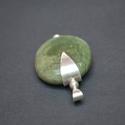 raku medál, Ékszer, óra, Medál, Ékszerkészítés, Ötvös, Egyedi készítésű  raku kerámia gyöngy (átm : 3x4cm) ,925ös ezüst foglalattal medálnak elkészítve.  , Meska
