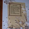 Házi áldás barna, bézs, fehér , Esküvő, Otthon, lakberendezés, Nászajándék, Falikép, Papírművészet, A quilling technika egyik ágának időigényes, aprólékos, nagy precizitást igénylő fésűs technikájáva..., Meska