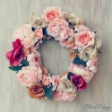 Vintage rózsák - tavaszi ajtódísz, esküvő dekoráció, Otthon, lakberendezés, Dekoráció, Virágkötés, Mindenmás, Leütés előtt kérlek érdeklődj, mert a kereskedés árukészlete megváltozott, jelenleg babarózsa van 4 ..., Meska