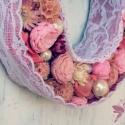 LADY  - Pasztell csipke gyöngy - romantikus ajtódísz igazi hölgyeknek, Dekoráció, Esküvő, Otthon, lakberendezés, Virágkötés, Mindenmás, Ezeknek a daraboknak már van gazdája, de szívesen készítek neked is egyet, ha megtetszett! :)  A le..., Meska