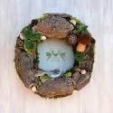 """Erdőmester - őszi ajtódísz természetjáróknak, Mindenmás, Otthon, lakberendezés, Dekoráció, Mindenmás, Nemezelés, Újabb igazi """"blueres"""" alkotás, saját ötlet alapján készült ez a különleges ajtódísz is. :)  Moha ko..., Meska"""