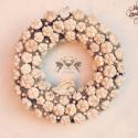Vintage álom - romantikus angyalkás kopogtató, Dekoráció, Otthon, lakberendezés, Baba-mama-gyerek, Ünnepi dekoráció, Virágkötés, Mindenmás, Ez a koszorú már gazdára talált, de szívesen elkészítem újra, ha neked is megtetszett!  Tavaly óta ..., Meska
