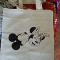 Minnie és Mickey mintás szatyor, Táska, Szatyor, Mindenmás, Ez a termék rendelhető, a megvásárlást követően kb.3 nap alatt készül el. A termék a képen láthatóv..., Meska