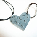 Páros LEGO szív - új formában - szétszedhető páros nyaklánc és kulcstartó, Férfiaknak, Ékszer, óra, Mindenmás, Nyaklánc, Ékszerkészítés, Mindenmás, Szürke LEGO-ból faragtam szív formájú, szétszedhető nyaklánc- és kulcstartó párost. Így mindenki ol..., Meska