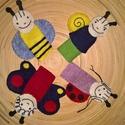 Bogyó és Babóca  ujjbábok (4db), Baba-mama-gyerek, Játék, Gyerekszoba, Báb, Varrás, Kézi varrással készült gyapjúfilc ujjbábok, melyek egy kedves megrendelőm részére készültek., Meska