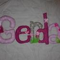 Gyerekszoba dekoráció- Textil betűk, Baba-mama-gyerek, Gyerekszoba, Mobildísz, függődísz, Varrás, Pöttyös vásznakból készült betűk, melyek igazán bájos kiegészítői lehetnek a gyerekszobának. Kezdő ..., Meska
