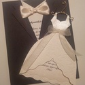 Vőlegény menyasszony esküvői meghívó, Esküvő, Meghívó, ültetőkártya, köszönőajándék, Mindenmás, Papírművészet, A meghívó kreatív és egyben kifejező.A  képen látható színektől igény szerint el lehet térni.A megh..., Meska
