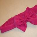 pink masnis bébihajpánt , Baba-mama-gyerek, Hajbavaló, Mindenmás, Varrás, Pink selyemből varrtam ezt a bébi méretű masnis hajpántot.  Nagyon szép enyhén fényes anyagból készü..., Meska