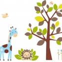 Oroszlános zsiráfos falmatrica szett kisfiúknak, Dekoráció, Baba-mama-gyerek, Falmatrica, Gyerekszoba, Fotó, grafika, rajz, illusztráció, Digitális technikával készült vektorrajz. A megadott méretektől el is lehet térni, ez esetben, írj é..., Meska