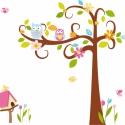 Hosszúra nyúló ágas fa tulipánokkal falmatrica szett, Dekoráció, Baba-mama-gyerek, Falmatrica, Gyerekszoba, Fotó, grafika, rajz, illusztráció, 100cm magas fával a falmatrica összeállítás 17.590Ft+áfa Jobbos és balos verzió is van., Meska