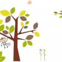 Oroszlános falmatrica szett baglyos faággal, Baba-mama-gyerek, Dekoráció, Gyerekszoba, Falmatrica, Fotó, grafika, rajz, illusztráció, 160cm fával 22.276Ft +áfa , Meska