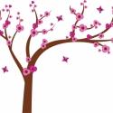Cseresznyevirágos fa falmatrica, Dekoráció, Baba-mama-gyerek, Falmatrica, Gyerekszoba, Fotó, grafika, rajz, illusztráció, Cseresznyevirágos fa 175 x 130cm : 17.485Ft +áfa   Jobbos és balos verzió is van. Leveleket lehet h..., Meska