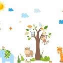 Majmos falmatrica szett pasztell összeállításban, Dekoráció, Baba-mama-gyerek, Falmatrica, Gyerekszoba, Fotó, grafika, rajz, illusztráció, Egyedi kérésre összeállított falmatrica dekoráció, 60cm fa magassággal., Meska
