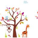 állatos FALMATRICA összeállítás kislányoknak, Dekoráció, Baba-mama-gyerek, Falmatrica, Gyerekszoba, Fotó, grafika, rajz, illusztráció, Digitális technikával készült vektorrajz, melyet falmatricának gyártunk le..  Újdonságaink között s..., Meska
