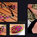 Pillecukor SZETT - pink és kivizöld textilékszer, nyaklánc, karkötő, Ruha, divat, cipő, Ékszer, óra, Magyar motívumokkal, Ékszerszett, Csomózás, Ékszerkészítés, Élénk, vidám, igazi nyári színekben pompázik, ez a könnyű textilékszer szett.   Viselőjét garantálta..., Meska