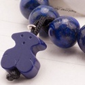 Lapis lazuli karkötő 10 mm-es gyöngyökkel és egy 14 mm-es lapis lazuli macival. Lápisz lazuli karkötő, Ékszer, óra, Karkötő, , Meska