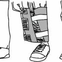 Nadrágszárvédő, Ruha, divat, cipő, Mindenmás, Férfiaknak, Varrás, Kerékpáros nadrágszárvédő, párban, darabonként két-két fényvisszaverő csíkkal. A pár egy jobb és ba..., Meska
