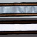 Fényvisszaverő pánt barna díszcsíkkal, Férfiaknak, Mindenmás, Ruha, divat, cipő, Varrás, Fényvisszaverő pánt textilbőrből, vidám színekben. Ezzel garantáltan észrevesznek! :) Erős, 5 cm szé..., Meska