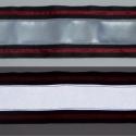 Fényvisszaverő pánt bordó díszcsíkkal, Mindenmás, Férfiaknak, Ruha, divat, cipő, Varrás, Fényvisszaverő pánt textilbőrből, vidám színekben. Ezzel garantáltan észrevesznek! :) Erős, 5 cm szé..., Meska