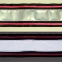 Fényvisszaverő pánt lazac színű díszcsíkkal, Ruha, divat, cipő, Mindenmás, Kendő, sál, sapka, kesztyű, Varrás, Fényvisszaverő pánt textilbőrből, vidám színekben. Ezzel garantáltan észrevesznek! :) Erős, 5 cm szé..., Meska