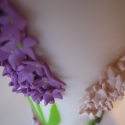 Tavaszi jácint virágos szülinapi gyertya, Dekoráció, Otthon, lakberendezés, Gyertya, mécses, gyertyatartó, Gyertya-, mécseskészítés, Nagymamám kedvenc virága a jácint, ezért természetesen a 80. szülinapjára járt neki ez a gyertya. :..., Meska