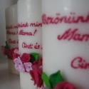 Köszönetajándék gyertya pink-rózsaszínben , Dekoráció, Otthon, lakberendezés, Ünnepi dekoráció, Gyertya, mécses, gyertyatartó, Gyertya-, mécseskészítés, Gyurma, Cinti008 megrendelésére díszítettem a képen látható gyertyákat. Cinti és Gergő az esküvőjük alkalmá..., Meska