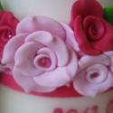Köszönetajándék gyertya pink-rózsaszínben , Dekoráció, Otthon, lakberendezés, Ünnepi dekoráció, Gyertya, mécses, gyertyatartó, Gyertya-, mécseskészítés, Gyurma, Cinti008 megrendelésére díszítettem a képen látható gyertyákat. Cinti és Gergő az esküvőjük alkalmáb..., Meska