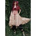 """""""Cinderella"""" - romantikus derékfűzős szoknya , Ruha, divat, cipő, Női ruha, Estélyi ruha, Szoknya, Varrás,  Romantikus apró-rózsás pamutvászonból készítettem ezt a kétrészes-kreációm.  A halcsontos derékfűz..., Meska"""