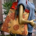 """""""Virágkoszorú"""" - maxi válltáska, Táska, Ruha, divat, cipő, Válltáska, oldaltáska, Női ruha, Varrás, Új vonalú nagy méretű válltáska gobelinmintás bútorvászonból.  Reggeltől estig viselhető, kényelmes..., Meska"""