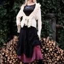"""""""Alice"""" -kabátka - nyers rusztikus gézből, Ruha, divat, cipő, Női ruha, Felsőrész, póló, Kabát, Varrás,    Nyers színben hagyott rusztikus pamutgézből készült extravagáns kabátka. Hosszú,tölcséres ujjakka..., Meska"""