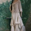 """""""Beatrice"""" - romantikus hosszú-ruha , Ruha, divat, cipő, Női ruha, Ruha, Varrás, Kedvelt modellem rusztikus, nyers pamutvászonból készítem, nyers és pasztell színekben.   Romantiku..., Meska"""