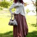 """""""Rachel"""" szoknya antik-rózsaszínben ---Megrendelhető színekben!, Ruha, divat, cipő, Női ruha, Szoknya, Festett tárgyak, Varrás, """"Rachel"""" szoknya antik-rózsaszínben  Ezt a kedvelt fazonomat most antik-rózsaszínben ajánlom! """"Rache..., Meska"""