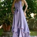 """""""Ophélia"""" levendula - romantikus princesszruha -Méretre készül! Színekben rendelhető!, Ruha, divat, cipő, Esküvő, Női ruha, Ruha, Festett tárgyak, Varrás, Rusztikus, nehéz nyersvászonból készítem ezt a levendula színre festett princessz-fazonú ujjatlan r..., Meska"""