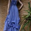 """""""Kék laguna """"art to wear""""-ruha - Színekben rendelhető!, Ruha, divat, cipő, Női ruha, Ruha, Kismamaruha, Varrás, Festett tárgyak, Művészi-megjelenésű modellemben  """"hercegnőnek érezheted magad!    """"Laguna""""- ruháimat különböző szín..., Meska"""