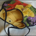 """""""Hawaii- virágai""""  -  retro-retikül, Táska, Ruha, divat, cipő, Válltáska, oldaltáska, Női ruha, Varrás,    Extravagáns nagy-virágos retikül hawaii virágokkal:  Ez a színes táska feldob minden sima öltöze..., Meska"""