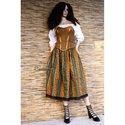 """""""Tiroli-Lolita"""" - háromrészes,  fűzős design-öltözet, Ruha, divat, cipő, Női ruha, Ruha, Festett tárgyak, Varrás, Különleges, stílusos összeállítás:  egy eredeti vintage tiroli-szoknyából, egy vintage kézzel-feste..., Meska"""