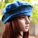 POLLY -  design-kalap, Ruha, divat, cipő, Kendő, sál, sapka, kesztyű, Sapka, Női ruha, Varrás, Mindenmás, Acélkék forrázott- filcből készítettem ezt a béleletlen, keményített kalapot.  Ha szereted a különl..., Meska
