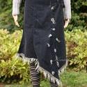 Téli bordás-pöttyös kétrészes, Ruha, divat, cipő, Női ruha, Ruha, Kötés, Varrás, Látványos téli összeállítás: Rövid, kézzel kötött bordás pulóver festékbe mártva, átmenetesen színe..., Meska