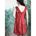 """""""Parázs"""" -design-selyemruha - art to wear flapper ruha, Ruha, divat, cipő, Női ruha, Ruha, Varrás, Bordós-piros viszkóz-selyemből terveztem ezt az  applikált modellemet.  Gyűrhető, vasalható.  Méret..., Meska"""