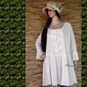 SZELLŐRÓZSA - tunika-ruha , Ruha, divat, cipő, Női ruha, Ruha, Kismamaruha, Varrás, Romantikus tunika-ruháim szellőrózsa-mintájú csipkével díszített változata. Könnyű, szellős pamutvá..., Meska