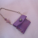 Újrahasznos mini táska lila színben, Dekoráció, Otthon, lakberendezés, Táska, Dísz, Újrahasznosított alapanyagból készült termékek, Mindenmás, Újrahasznos mini táska lila színben.  Egy kilyukadt fitneszlabda anyagából készítettem ezt a mini k..., Meska