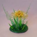 Újrahasznos virág citromsárga, Dekoráció, Otthon, lakberendezés, Mindenmás, Dísz, Újrahasznosított alapanyagból készült termékek, Mindenmás, Újrahasznos virág citromsárga színben.  Üdítős palackokból készítettem ezt a virágot, aprólékos mun..., Meska