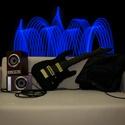 Gitár alakú párna - Fekete színű ESP Horizon típusú gitárpárna, Mindenmás, Otthon, lakberendezés, Férfiaknak, Hangszer, zene, Varrás, Rock Párna / Fekete színű ESP Horizon típusú Gitár Párna  Test anyaga: Piros és fekete színű textil..., Meska