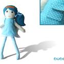 Fogtündér - öltöztethető textilbaba szárnyakkal és fogtartó zsebecskével, Játék, Baba-mama-gyerek, Plüssállat, rongyjáték, Játékfigura, , Meska