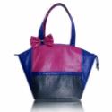 SIKK kék, zöld, lila táska, Ruha, divat, cipő, Táska, Válltáska, oldaltáska, Varrás, Elegáns, dekoratív, egyedi.  A szép formájú táska lila (violaszín, ciklámen, mályva) kék, zöld bőrha..., Meska