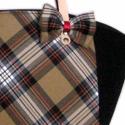 Burberry kockás fekete táska, Ruha, divat, cipő, Táska, Válltáska, oldaltáska, Varrás, Elegáns, dekoratív, egyedi.  A szép formájú táska fekete textilből készült, az elején burberry kock..., Meska