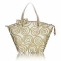 Aranymintás vanília színű táska tavaszra, nyárra, Táska, Válltáska, oldaltáska, Varrás, Aranymintás vanília színű táska   Elegáns, dekoratív, egyedi.  A szép formájú táska vanília színű, ..., Meska