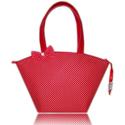 Piros-fehér,  aprópöttyös táska, Táska, Válltáska, oldaltáska, Varrás, Elegáns, dekoratív, egyedi.  A szép formájú táska piros alapon fehér pöttyös, jó minőségű textilből..., Meska