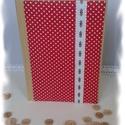 Pöttyös napló, Mindenmás, Dekoráció, Mindenmás, 15*21cm-es papírmasé borítós füzetet dekoráltam cartonage technikával. Pöttyös textilt, hímzett pam..., Meska