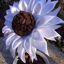 Kávé Margaréta, Dekoráció, Mindenmás, Otthon, lakberendezés, Kaspó, virágtartó, váza, korsó, cserép, Mindenmás, Virágkötés, Az egyik kedvencem a margaréta, a másik a kávé. Ötvözve a kettőt született meg Grétike!???? A virág..., Meska